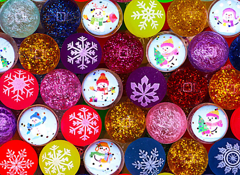 новогодние коллекции мячей-прыгунов